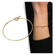 Bracelete Coração - Dourado