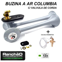 Buzina Ar Caminhão 2 Cornetas Columbia C/ Valvula Corda 12x