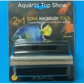 Limpador Magnético Soma Fisch G-p/vidros De Até 15mm