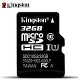 Micro Sd Kingston 32 Gb,original, Classe 10, Carta Registrad