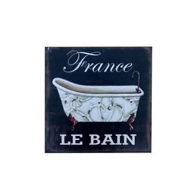 Cartel Cuadro Vintage Retro Modelo Bain France - Desillas