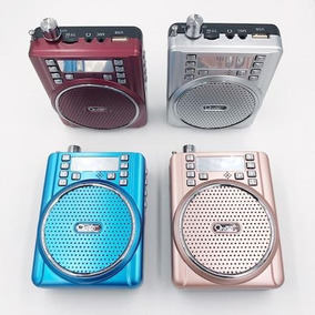 Mp3 Radio Reproductor Mic Usb Sd Radio Fm Auto Scan Recargab