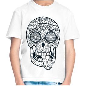 Camiseta Infantil Menino Caveira Estrelada 1