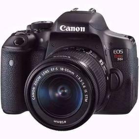 Camera Dslr Canon Rebel T6i 18-55mm Is Stm Wifi Profissional