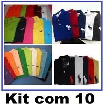 10 Camisa Polo Masculina Camiseta Polo Atacado Revenda