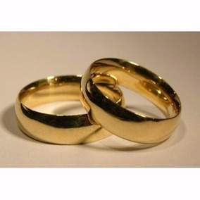 Argollas-- Matrimonios --ilusiones -acero -enchape Oro18 Kt