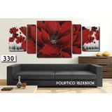 Cuadro Moderno Flores 215x80cm O 182x80cm Decorativo Living