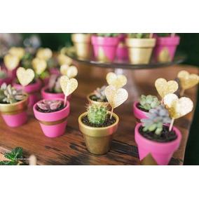 Recuerditos Con Plantas Bautizo, Boda, Comunión (docena)