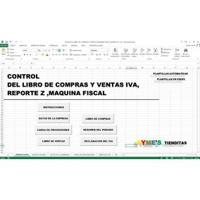 Libros De Compras Y Ventas Iva,reporte Z,maquina Fiscal,