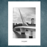 Lámina Puente De La Mujer  Buenos Aires 30 X 40 Cm