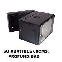 Rack De Pared Cerrado 6u Abatible Switch Dvr 60 Cm Profun