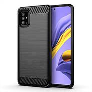 Estuche Protector Carbono Samsung Galaxy A51 - Negro