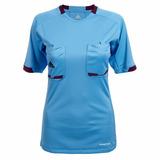 Camiseta adidas Arbitro, Talla L, Celeste, Mujer, Nueva