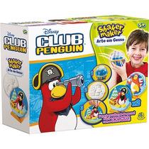 Shaker Maker Arte Em Gesso Club Penguin Disney - Dtc