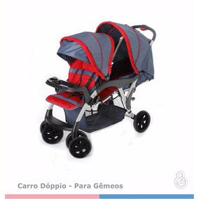Carrinho De Bebê Para Gêmeos Galzerano Doppio Jeans