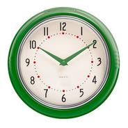 Reloj De Pared Verde  Retro Marco Metal