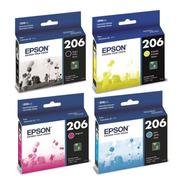 Cartucho Epson 206 K/c/m/y Combo 4 Colores Para Xp2101