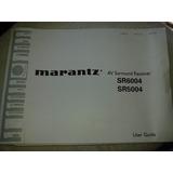 Manual Receiver Marantz Sr6004/sr5004 (original)