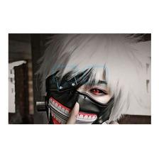 Máscara Disfraz Tokio Ghoul Kaneki Cosplay Cuero Qchvr
