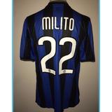 Camiseta Ínter Diego Milito Champions 2010