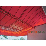 Lona Tenda Barraca Quiosque Vermelha Grossa 600 Micras 4x4 M
