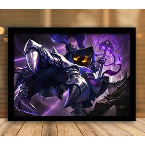 Quadro League Of Legends Lol Veigar 45x35 Com Vidro