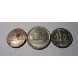 3 Moneda Usa 1 5 Cents 1 Dime 1997 1979 2008 Lote U7