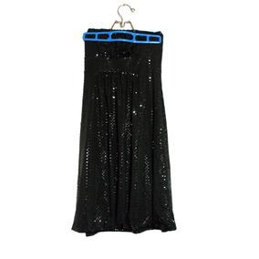 Vestido Strapless De Fiesta/noche Seda Fría Con Lentejuelas