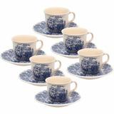 Jogo Xícaras Chá Café C/ Leite Cena Inglesa Oxford