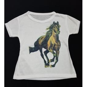 Hermosas Blusas Estampado Caballos Niña Talla #6-8