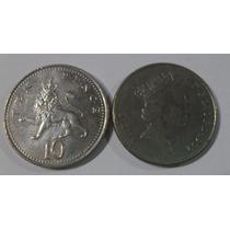 Moeda Inglaterra 10 Pence 1992