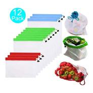 Pack De 12 Bolsas Reutilizables Para Frutas O Verduras Ecolo