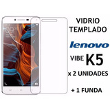Vidrio Templado Lenovo K5 (x 2 Un) + Funda Trasera Silicona