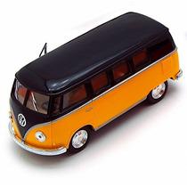 1962 Volkswagen Autobús Clásico, Amarillo - Kinsmart 5376d