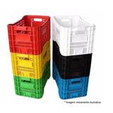 4 Pç Caixa Plástica Agrícola Hortifruti Organizador Colorida