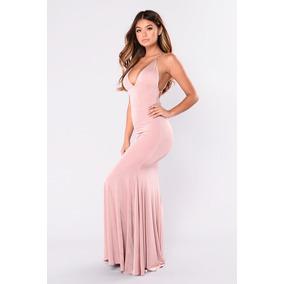 Vestido De Dama Largo Elegante Ocasiones Especiales
