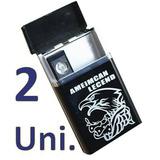 2 Cigarreira Cigarro Usb Isqueiro Eletrico Recarregável Top