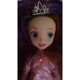 Muñeca Princesa Sofia Disney 35 Cm Con Vestido Rosado