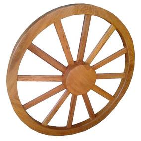 Roda De Carroça Decoração Fazenda Sitio Madeira Jequitibá