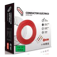 Caja 100 Mts Cable Iusa Verde Thw Cal 10 Awg 100%cobre