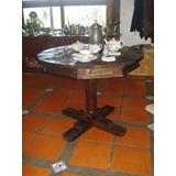 Mesa Comedor Lapacho Cocina Living Redonda Rústica