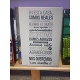 Cuadro Familia Casa Home Hogar Family Life Love Frases 40x60