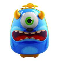 Maleta Mochila Con Carro Monster 3d Soft Silicona 15