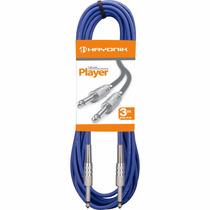 Cabo Para Instrumentos P10 X P10 3 Mts Player Azul Hayonik