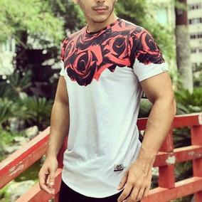 Camisas Camisetas Masculinas Long Line Blusa Swag