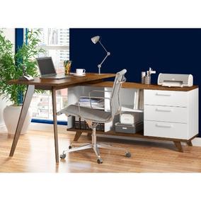 Mesa Para Computador Tutti Colors Madesa 3 Gavetas Pés Palit