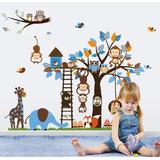 Vinilos Decorativos Infantiles Set Arboles Animales Grandes