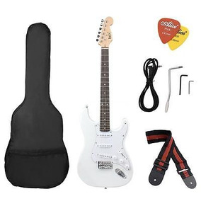 Cuerpo + Funda St Eléctrico Guitarra Basswood Blanco...