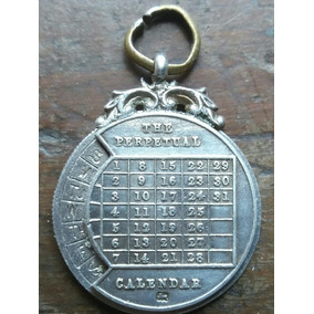 Antiguo Calendario Perpetual Plata 925 Inglesa