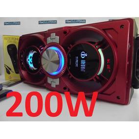 Caixa De Som Amplificada Bluetooth 200w Completa Usd Sd-mp3